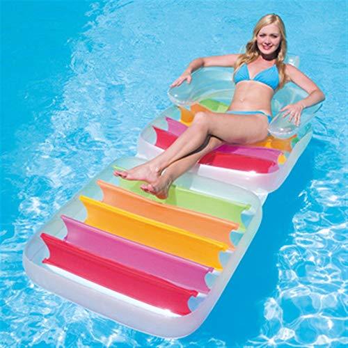 NWYJR Hamaca flotante Nflatable para cama inflable multiusos para exteriores, playa, tumbonas, balsas, respaldo reclinable y sofá de agua, cama flotante ultraligera para adultos