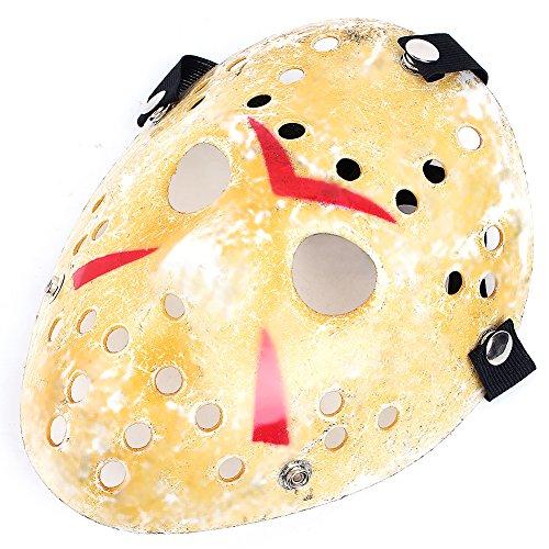 bei wang Festival de Jason Delicada máscara de hockey Freddy Jason Voorhees de Rubie Máscara de Halloween (tamaño adulto)