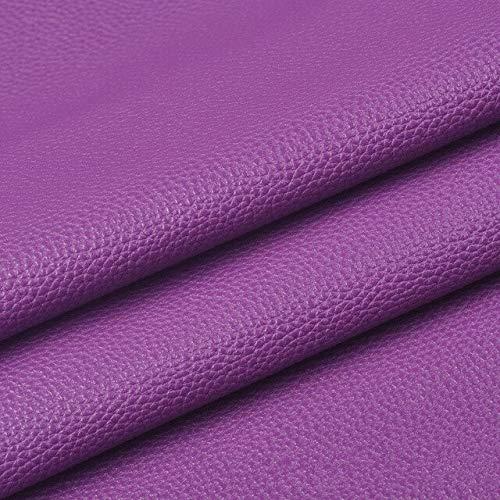 SUNYUAN PU tela de cuero artificial suave cuero sintético para coser bolsa ropa sofá coche DIY hecho a mano material 20x15cm color sólido