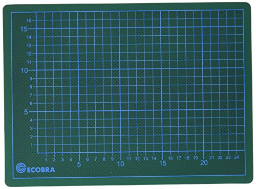 Ecobra 703022 - Base da taglio, 30 x 22 cm, colore verde/nero