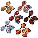 10 Piezas Magic Mariposa voladora en el Libro Hada Goma Banda Powered Wind Up Mariposa Juguete, gran regalo sorpresa, para Boda y cumpleaños Regalos (Color al Azar)