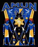 Amun: Composition Notebook: Egyptian Gods Wide Ruled Notebook Lined School Journal | 100 Pages | 7.5...