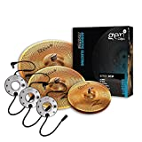 Zildjian Gen16 Series Buffed Bronze Cymbal Set - 13' Hi-Hats, 16' Crash, 18' Crash/Ride including 3 x Direct Source Pick Ups, Full Set