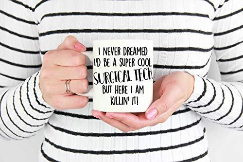 Bru565und Tazas de café con tecnología quirúrgica, divertida taza de tecnología quirúrgica, taza de café con tecnología quirúrgica, regalo de tecnología quirúrgica, regalo para tecnología quirúrgica, 11 onzas, Navidad, Acción de Gracias, regalo de cumpleaños