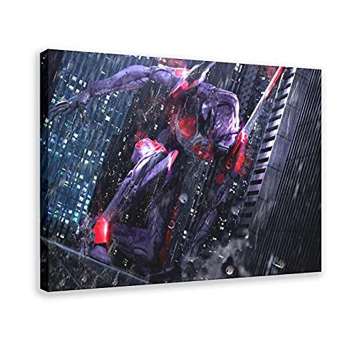 Anime Neon Genesis Evangelion Eva-01 16 Póster de lona para decoración de dormitorio, paisaje, oficina, habitación, marco de regalo, 50 x 75 cm