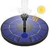 AISITIN Fuente Solar Bomba(18.3cm), 3.5W Fuente de Jardín Solar Panel Solar Flotante de Batería Incorporada de 1500mAH con 6 Boquillas Muy Adecuado para Pequeños Estanques Decoración de Jardines