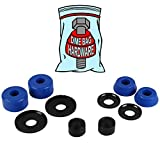 trucks washer - Dime Bag Hardware Skateboard Truck Rebuild Kit Bushings Washers Pivot Cups for 2 Trucks (88A Blue)