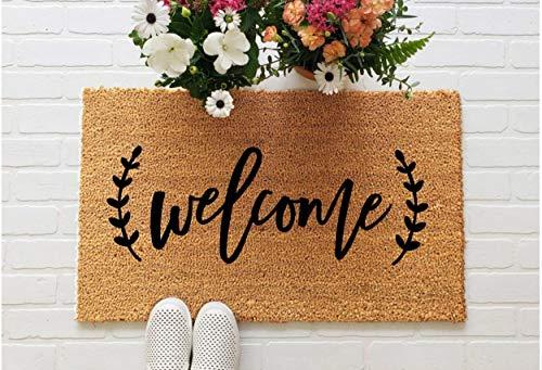 Yor242len - Felpudo de bienvenida, regalo de inauguración de la casa, regalo de boda recién casado, lindo felpudo personalizado