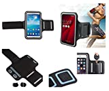 Foto DFV mobile - Professionali Bracciale Neoprene Impermeabile Fascia da Braccio Custodia Sport Compatibile con Doogee Y200 - Nero