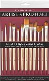 Studio Series Artist's Paint Brush Set (12 highest quality nylon brushes)