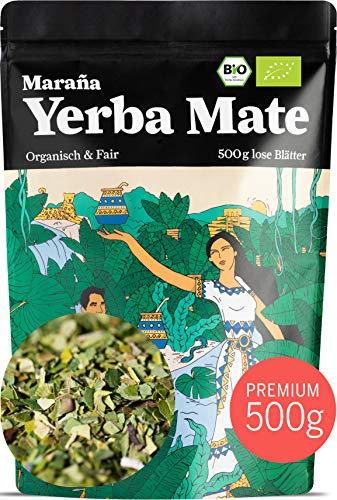 Maraña® Yerba Mate Tee Bio Grün ● 500g lose Matetee-Blätter ● Premium-Qualität ● No.1 Energy Drink Südamerika Koffein
