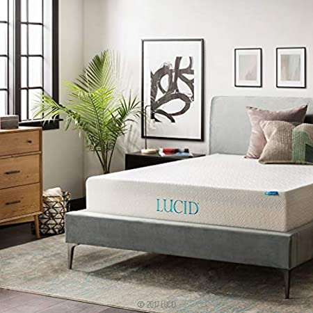 LUCID 12 Inch Gel Memory Foam Mattress review image
