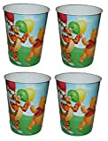 Disney Winnie the Pooh and Friends Plastic Cups with Pooh Tigger Piglet - 4 Cups