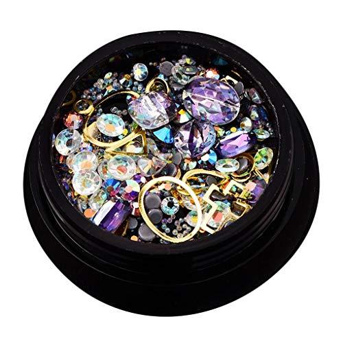 Babysbreath17 Multi-Types Cristal Argent Or 3D Strass Perle en Alliage Glitter manucure Bijoux Sticker Décor Conseils 11