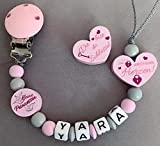 Schnullerkette Nuckelkette mit Namen Du Bist Der Schlüssel Zu Unserem Herzen Kleine Prinzessin