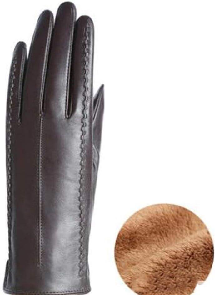 HUOQILIN Rare Leather Gloves Women's New York Mall Sheepskin
