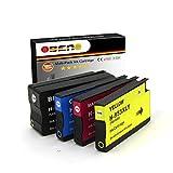 OBENO - 1 Set - 953XL 4 pack reemplazo compatible cartuchos de tinta para HP OfficeJet Pro 8710 8720 8633 8728 8730 8740 7740 8218 8715 8718 8719 impresoras (1 negro, 1 cian, 1 magenta, 1 amarillo)