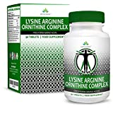 L-Arginine L-Ornithine L-Lysine Supplement Capsules - Essential Amino Acid Complex For Increase Cardiovascular Health, Weight Loss and Energy - Nitric Oxide Booster by Earths Design from Earths Design