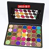 Mcuties 35 Color Bright Eyeshadow Paleta Glitter Shimmer Matte Eyeshadow Palette Paleta de Maquillaje de Larga duración-04