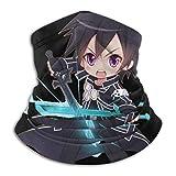 N/A Sword Art Online Kazuto Kirigaya Fleece Neck Warmer - Windproof Winter Neck Gaiter Cold Weather Face Mask For Men Women