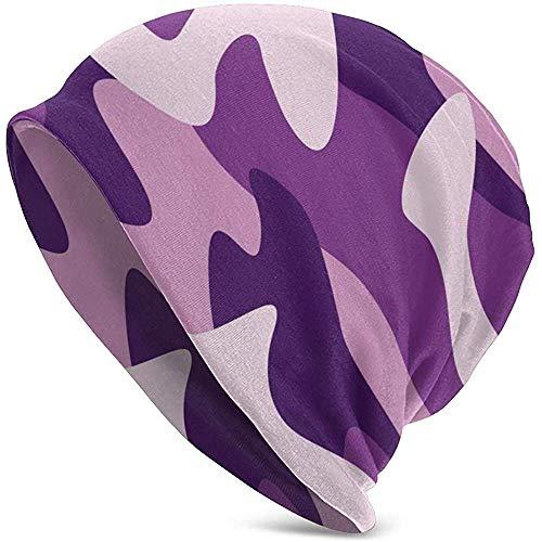 Mamihong Sombreros camuflados Army Purple Warm Slouchy Soft Headwear, Comodidad Durante Todo...