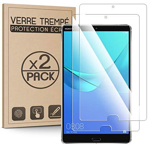 KARYLAX - Juego de 2 protectores de pantalla (dureza 9H, 3D-Touch, 100% transparente), cristal templado antiarañazos para Huawei MediaPad M5 de 8,4 pulgadas