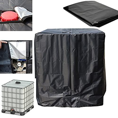 WMLBK IBC Cover protezione UV antipolvere con apertura superiore, copertura impermeabile Oxford per serbatoio acqua 1000L IBC, 120 x 100 x 116 cm