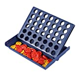 Greatangle Juguete Educativo Ajedrez REN Toys-Juego de Bingo Cuatro Tablero de ajedrez cuádruple Vertical Azul Tablero de conexión Vertical Damas Azul