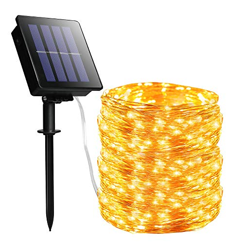 YKB Solar String Lights Outdoor Solar...