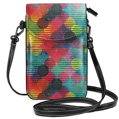 Psychedelic Digital Futuristic Spherical Women Small Crossbody Bags Cell Phone Purse Wallet With Credit Card Slots