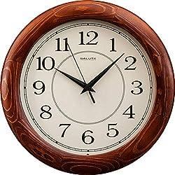 SALUTE Wooden Cedar Wall Clock