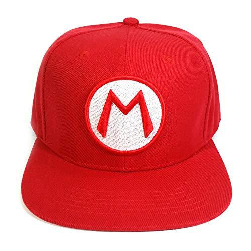 Sombrero de Super Mario Hip Hop Mario hat Super Mario brothers gorra de béisbol con lengua de pato gorra de red de sombra hombres y mujeres sombrero para el sol hip-hop al aire libre