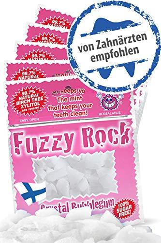 Zuckerfreie Xylit Kristalle (Bonbons) 5er Pack I 99% finnischer Xylit in reiner Form ohne Zusatzstoffe I Zuckerfreie, kalorienarme Süßigkeit I Zahnpflege mit Xylitol Birkenzucker I Bubble Gum