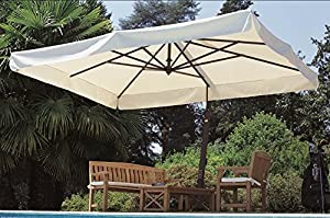 Today Price Rectangular Canopy Graphite Frame Patio Umbrella ...