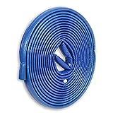 10m PE-Rohrisolierung rund mit Schutzhaut blau DN 25-28mm - Isolierstärke 4mm