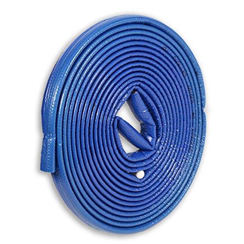10m PE-Rohrisolierung rund mit Schutzhaut blau DN 20-22mm - Isolierstärke 4mm