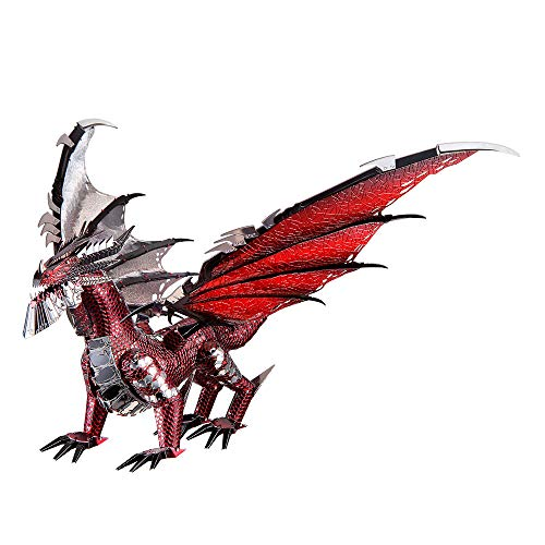 Piececool 3D Metal Model Kits-Black Dragon King, DIY 3D Metal Puzzle for Adults, Great Birthday...