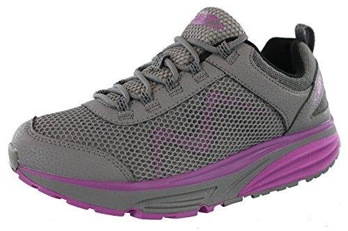 MBT Womens Colorado 17 Grey/Purple Rocker Bottom Fitness Walking Shoe Size 11