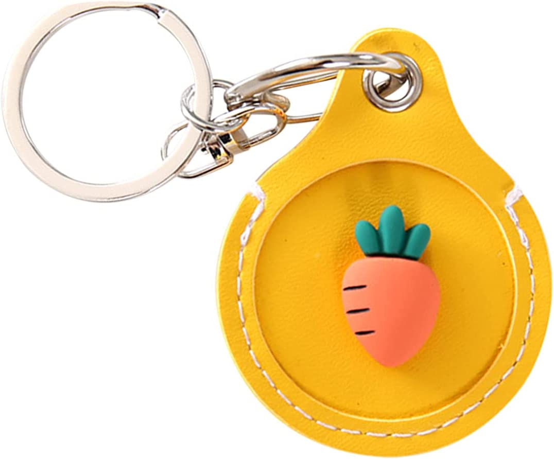 Cute Anti-Lost Case for AirTag,2021 New Protective Case Cover with Keychain Ring Designed,Safety Airtag Tracking Locator Anti-Lost Tracker Finder Protector (A)