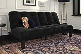 DHP Hamilton Sofa Sleeper, Black