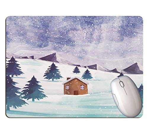 Gaming Mouse Pads, Exquisite Scenery, Exquisite Cottages In The Forest, Wear-Resistant Rubber, Laptop Gaming Mouse Pads