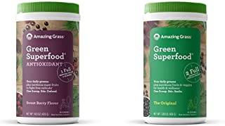 Amazing Grass Green Superfood Antioxidant: Organic Plant Based Antioxidant and Wheat Grass Powder for Full Body Recovery,6...