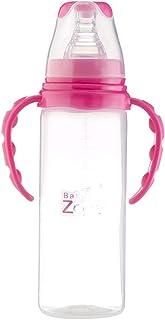 بيبي زون رضاعة أطفال 240 مل بيدين خالية من مادة BPA مع حلمة سيليكونية