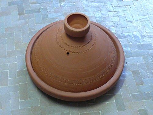 Marokkanische Tajine zum Kochen unglasiert Ø 25 cm für 2 Personen - 905703-0004