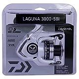 Daiwa LAGUNA3000-5BI-CP Laguna 5Bi Spinning Reel, 3000, 5.3: 1 Gear Ratio, 6 Bearings, 31.1' Retrieve Rate, 8.80 lb Max Drag, Clam