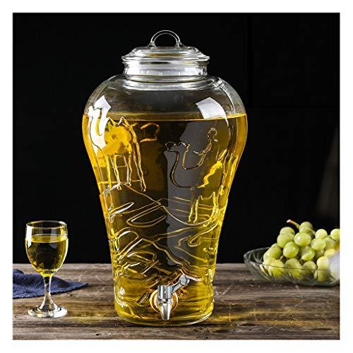 Dranken dispenser Sprankelende Wijnfles Glas Fles Wijn Speciale Wijnfles Met Kraan Huishoudelijke Wijnpot Seal Dikke Glas XINYALAMP