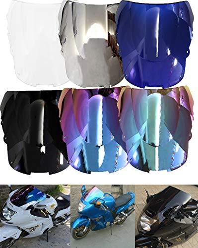 CJYShop Deflectores de viento de doble burbuja para motocicleta Honda CBR1100XX CBR 1100XX 1996-2007