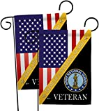 National Guard Home of Army Garden Flags 2pcs Pack Armed Forces ANG United State American Military Veteran Retire Official Small Decorative Gift Yard House Banner Double-Sided Made in USA 13 X 18.5