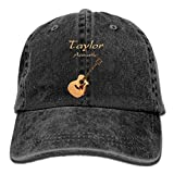 Sealiarks Taylor Acoustic Acoustic Guitars Denim Hats Fashion Cool Unisex Travel Sunscreen Baseball Caps