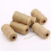 100 M Natuurlijke Handgemaakte Linnen Koorden Macrame Garen Touw Diy Muur Opknoping Plant Hanger Craft String Breien Cd